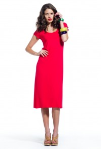 Midi dress with cap sleeve Joseph Saba
