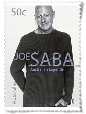 Australia Post Legends Series Stamp - Joe Saba